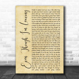 Luke Combs Even Though I'm Leaving Rustic Script Song Lyric Music Poster Print