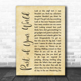 The Little Mermaid Part of Your World Rustic Script Song Lyric Music Poster Print