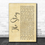 Brandi Carlile The Story Rustic Script Song Lyric Music Poster Print