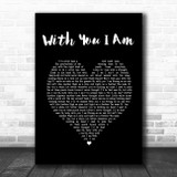Cody Johnson With You I Am Black Heart Song Lyric Print