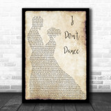 Lee Brice I Don't Dance Man Lady Dancing Song Lyric Print