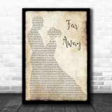 Nickelback Far Away Man Lady Dancing Song Lyric Print