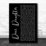 Halestorm Dear Daughter Black Script Song Lyric Music Wall Art Print
