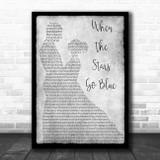 Bethany Joy and Tyler Hilton When The Stars Go Blue Grey Man Lady Dancing Print
