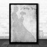 Sara Bareilles I Choose You Man Lady Dancing Grey Song Lyric Quote Print