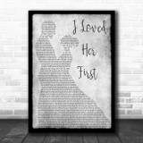Heartland I Loved Her First Man Lady Dancing Grey Song Lyric Print