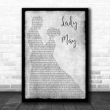 Tyler Childers Lady May Man Lady Dancing Grey Song Lyric Print
