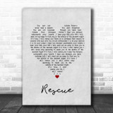 Lauren Daigle Rescue Grey Heart Song Lyric Print
