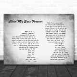 Valen - Ozzy Osbourne and Lita Ford Close my eyes forever Man Lady Grey Print