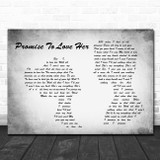 Blane Howard Promise To Love Her Man Lady Couple Grey Song Lyric Print