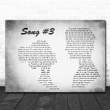 Stone Sour Grey Song 3 Man Lady Couple Grey Song Lyric Quote Print