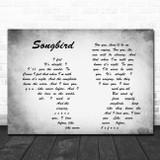 Fleetwood Mac Grey Songbird Man Lady Couple Grey Song Lyric Print