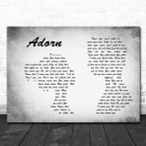 Miguel Adorn Man Lady Couple Grey Song Lyric Quote Print