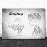 Michael Buble Everything Man Lady Couple Grey Song Lyric Print