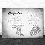 Van Morrison Crazy Love Man Lady Couple Grey Song Lyric Print