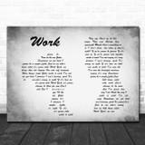 Kane Brown Work Man Lady Couple Grey Song Lyric Quote Print