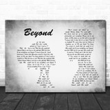 Leon Bridges Beyond Man Lady Couple Grey Song Lyric Print