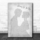 Dani And Lizzy Dancing In The Sky Man Lady Bride Groom Wedding Grey Song Print