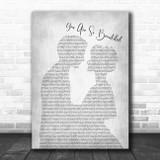 Joe Cocker You are so beautiful Man Lady Bride Groom Wedding Grey Song Print