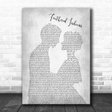 Tyler Childers Feathered Indians Grey Song Man Lady Bride Groom Wedding Print