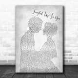 Staind Tangled Up In You Grey Song Lyric Man Lady Bride Groom Wedding Print