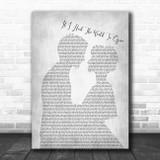 Grateful Dead If I Had The World To Give Man Lady Bride Groom Wedding Grey Print