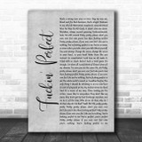 Pink Fuckin' Perfect Rustic Script Grey Song Lyric Quote Print