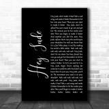 The Beatles Hey Jude Black Script Song Lyric Music Wall Art Print