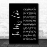 The Beatles Life In My Life Black Script Song Lyric Music Wall Art Print