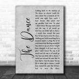 Garth Brooks The Dance Rustic Script Grey Song Lyric Print