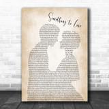 Corey Smith Something to Lose Man Lady Bride Groom Wedding Song Lyric Print