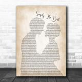 James Bay Simply The Best Man Lady Bride Groom Wedding Song Lyric Print