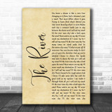 Garth Brooks The River Rustic Script Song Lyric Print
