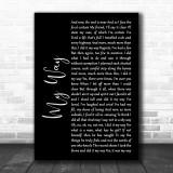 Frank Sinatra My Way Black Script Song Lyric Music Wall Art Print