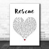 Lauren Daigle Rescue White Heart Song Lyric Print