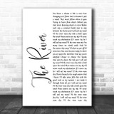 Garth Brooks The River White Script Song Lyric Print