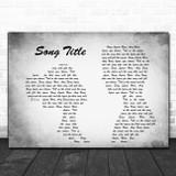 Any Song Lyrics Custom Grey Landscape Couple Personalized Lyrics