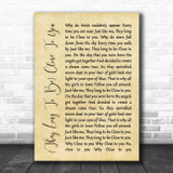 The Carpenters (They Long To Be) Close To You Rustic Script Song Lyric Quote Music Print