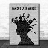 My Chemical Romance Famous Last Words Musical Instrument Mohawk Song Lyric Quote Music Print
