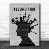 Blink-182 Feeling This Musical Instrument Mohawk Song Lyric Quote Music Print
