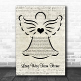 The Lumineers Long Way From Home Music Script Angel Song Lyric Quote Music Print