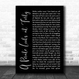 Jimmy Buffett A Pirate Looks at Forty Black Script Song Lyric Quote Music Print