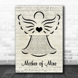 Neil Reid Mother of Mine Music Script Angel Song Lyric Quote Music Print
