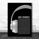 Eminem Lose Yourself Grey Headphones Song Lyric Quote Music Print