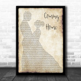 Leon Bridges Coming Home Man Lady Dancing Song Lyric Quote Music Print