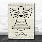 Bette Midler The Rose Music Script Angel Song Lyric Quote Music Print
