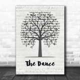 Garth Brooks The Dance Music Script Tree Song Lyric Quote Music Print