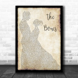 Maren Morris The Bones Man Lady Dancing Song Lyric Quote Music Print