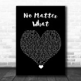 Papa Roach No Matter What Black Heart Song Lyric Quote Music Print