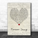 Tyketto Forever Young Script Heart Song Lyric Quote Music Print